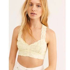 NWT Free People Galloon Lace Racerback Bralette